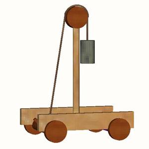 Antiker Schwerkraftwagen